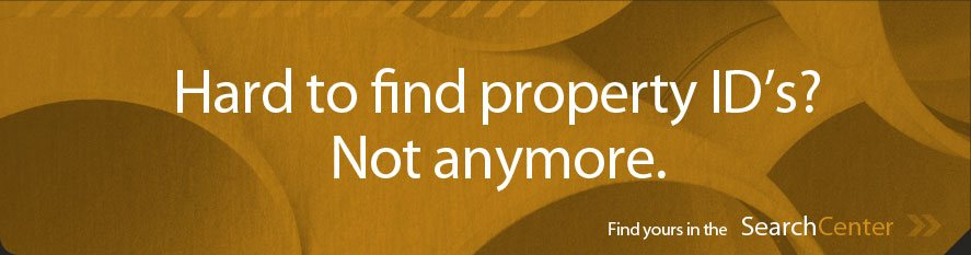Find those hard-to-find property IDs with our Search Center
